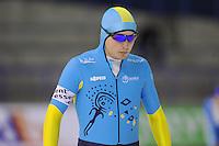 SCHAATSEN: CALGARY: Olympic Oval, 08-11-2013, Essent ISU World Cup, 500m, Fyodor Mezentsev (KAZ), ©foto Martin de Jong