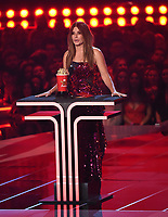 "SANTA MONICA - JUNE 15: Sandra Bullock accepts the award for ""Most Frightened Performance"" on the 2019 MTV Movie & TV Awards at the Barker Hangar in Santa Monica, California. The show airs on MTV on Monday, June 17. (Photo by Frank Micelotta/PictureGroup)"