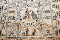 3rd century black & white Roman Mosaics from Merida, Merida Archaeological Museum, Spain
