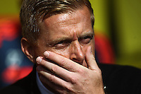 Garry Monk manager of Swansea looks dejected   during the Barclays Premier League match Watford and Swansea   played at Vicarage Road Stadium , Watford
