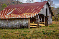 Old barn in Boxley Valley near the old grist mill.
