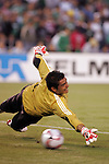June 04 2008:  Oswaldo Sanchez (Santos) (1) of Mexico.  During Mexico's 2008 USA Tour in preparation for qualification for FIFA's 2010 World Cup, the national soccer team of Mexico was defeated by Argentina 1-4 at Qualcomm Stadium, in San Diego, CA.