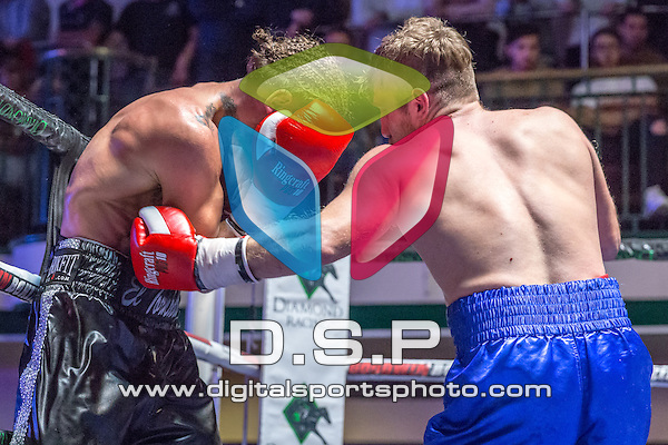 Tyler Goodjohn V Ivo Gogosevic - Welterweight Contest. Photo by: Stephen Smith<br /> <br /> Saturday 5th Dec, 2015. - York Hall, Bethnal Green, London, United Kingdom.