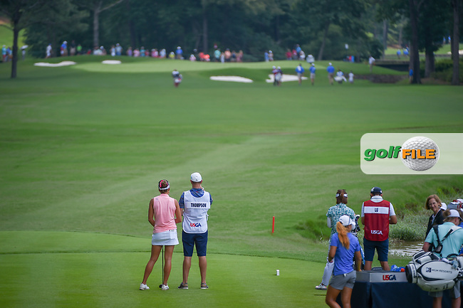 Lexi Thompson (USA) looks over her tee shot on 10 during round 3 of the U.S. Women's Open Championship, Shoal Creek Country Club, at Birmingham, Alabama, USA. 6/2/2018.<br /> Picture: Golffile | Ken Murray<br /> <br /> All photo usage must carry mandatory copyright credit (© Golffile | Ken Murray)
