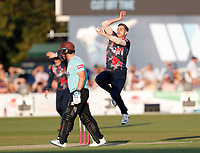 Fred Klaassen bowls for kent during Kent Spitfires vs Surrey, Vitality Blast T20 Cricket at the St Lawrence Ground on 23rd August 2019