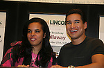 Bold and The Beautiful's Mario Lopez poses with a fan as he has a new book Mud Tacos or Tacos de Lodo on October 16, 2009 at Lincoln Square Barnes & Noble, New York City, New York.