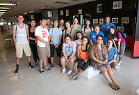 Incoming first-years participate in Oxy Engage with a tour of the Civil Rights Museum at The WLCAC in Los Angeles on Aug. 20, 2014, one of the stops for the Social Justice group. Here they pose with Tina Watkins '01, WLCAC General Manager, Development, front right. The Watts Labor Community Action Committee (WLCAC) is a non-profit, community-based, human social services organization dedicated to improving the quality of life for South Central Los Angeles residents. (Photo by Marc Campos, Occidental College Photographer)