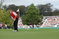 September 24th, 2006. European  Ryder Cup team player during the singles final session of the last day of the 2006 Ryder Cup at the K Club in Straffan,. County Kildare in the Republic of Ireland...Photo: Eoin Clarke/ Newsfile..