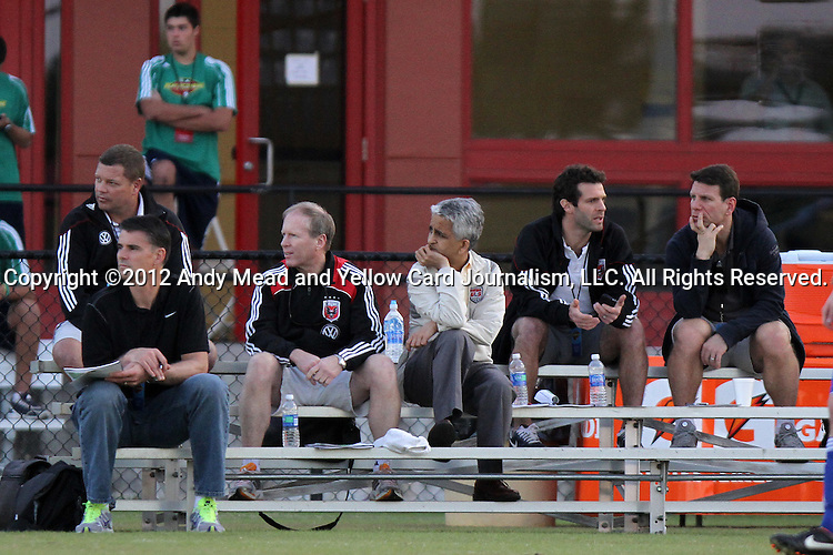 06 January 2012: From left: Chad Ashton, Pat Onstad, Kevin Payne, Sunil Gulati, Ben Olsen, Jeff Agoos<br />  The 2012 MLS Player Combine was held on the cricket oval at Central Broward Regional Park in Lauderhill, Florida.