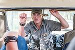 07.01.2019, Lion & Safari Park, Broederstroom, Kalkheuvel, RSA, TL Werder Bremen Johannesburg Tag 05<br /> <br /> im Bild / picture shows <br /> Tour Guide Ronel O'Neill drückt beide Daumen nach Tour für Werder Bremen, <br /> <br /> Teil der Spieler besucht am 5. Tag des Trainingslager eine geführte Tour im Lion & Safari Park, <br /> <br /> Foto © nordphoto / Ewert