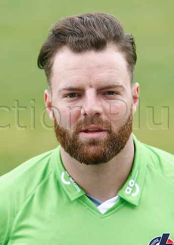 08.04.2016. Old Trafford, Manchester, England. Lancashire County Cricket Press Call. Lancashire all-rounder Arron Lilley.