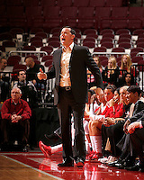 Ohio State Buckeyes head coach Kevin McGuff yells during the first half of the NCAA women's basketball game at Value City Arena on Wednesday, November 27, 2013. (Columbus Dispatch photo by Jonathan Quilter)
