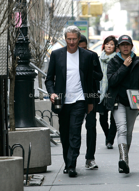 "WWW.ACEPIXS.COM . . . . .  ....April 20 2011, New York City....Actor Richard Gere walks on the set of his new movie ""Arbitrage"" on April 20 2011 in New York City....Please byline: CURTIS MEANS - ACE PICTURES.... *** ***..Ace Pictures, Inc:  ..Philip Vaughan (212) 243-8787 or (646) 679 0430..e-mail: info@acepixs.com..web: http://www.acepixs.com"