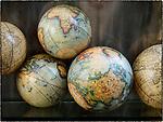 Globes. Ravenna, Italy