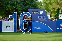 Danny Willett (ENG) on the 16th tee during the 2nd round of the DP World Tour Championship, Jumeirah Golf Estates, Dubai, United Arab Emirates. 16/11/2018<br /> Picture: Golffile | Fran Caffrey<br /> <br /> <br /> All photo usage must carry mandatory copyright credit (© Golffile | Fran Caffrey)