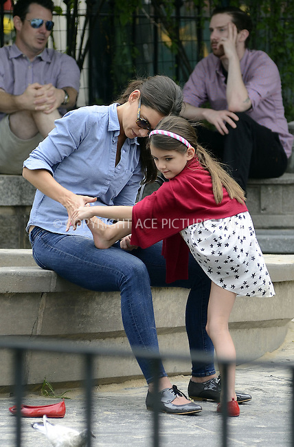 WWW.ACEPIXS.COM....September 3 2012, New York City....Actress Katie Holmes enjoyed a day out in a Brooklyn park with her daugher Suri Cruise on September 3 2012 in New York City....By Line: Curtis Means/ACE Pictures......ACE Pictures, Inc...tel: 646 769 0430..Email: info@acepixs.com..www.acepixs.com