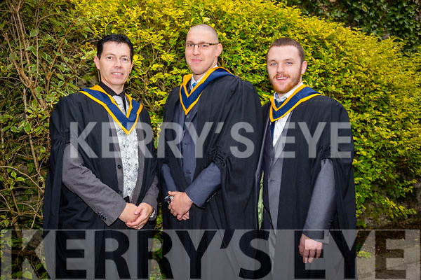At the ITT Conferring Ceremony in the Brandon Hotel on Thursday were Bachelor of Science (Honours) in Computer Services Management, l-r  John Hanafin, Harm Dykstra and Conrad Ryan