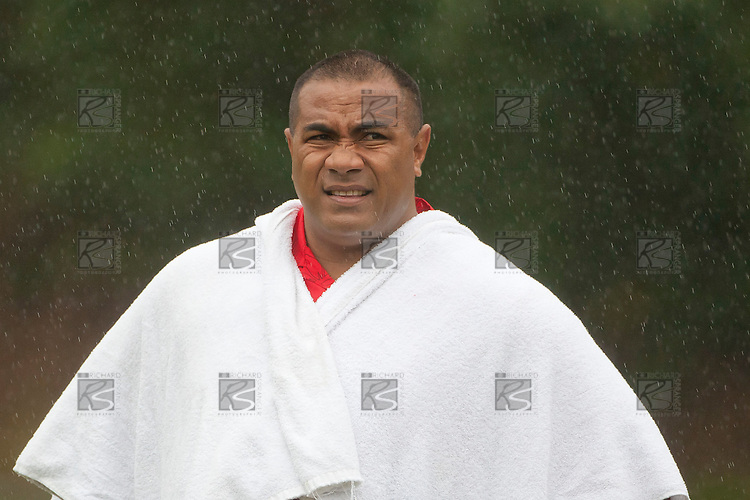 Tonga A Coach Isitolo Maka. IRB Pacific Rugby Cup game played between the Chiefs Development XV and Tonga A at Bayer Growers Stadium, Pukekohe on Friday March 4th, 2011..The Chiefs Development XV won 50 - 13.