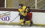 01.04.2013 Puigcerda, Spain. IIHF Ice Hockey Women's World Championship Div II Group B.Nadege Liesens ina ction during  Game between Spain against Belgium