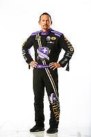 Feb 7, 2018; Pomona, CA, USA; NHRA funny car driver Jack Beckman poses for a portrait during media day at Auto Club Raceway at Pomona. Mandatory Credit: Mark J. Rebilas-USA TODAY Sports