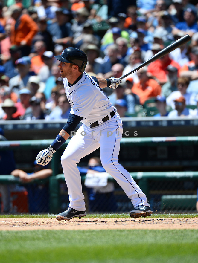 Detroit Tigers Andrew Romine (17) during a game against the Toronto Blue Jays on June 8, 2016 at Comerica Park in Detroit MI. The Blue Jays beat the Tigers 7-2.