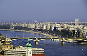 Budapest, Hungary. Margit (Margaret) Bridge and the city beyond.