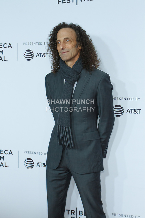 """Kenny G arrives at the Clive Davis: """"The Soundtrack Of Our Lives"""" world premiere for the Opening Night of the 2017 TriBeCa Film Festival on April 19, 2017 at Radio City Music Hall."""