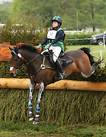 LEXINGTON, KY - April 29, 2017. #17 Rise Against and Bunnie Sexton from the USA on the Cross Country course at the Rolex Three Day Event at the Kentucky Horse Park.  Lexington, Kentucky. (Photo by Candice Chavez/Eclipse Sportswire/Getty Images)