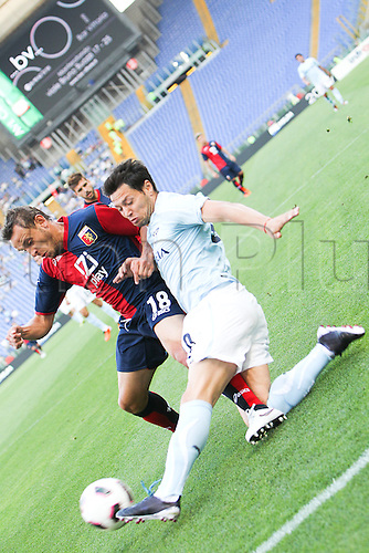 14.05.2011 Seria A Tim - stadio olimpico in Rome, Italy - Lazio versus Genoa 4-2. Picture shows Zarate in Action