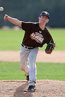 January 17, 2010:  Evan Thoning (Boulder, CO) of the Baseball Factory Mountain Team during the 2010 Under Armour Pre-Season All-America Tournament at Kino Sports Complex in Tucson, AZ.  Photo By Mike Janes/Four Seam Images