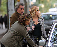 NEW YORK, NY-October 26: Ray Liotta, Natalie Hall, Jennifer Lopez shooting on location for new season of Shades of Blue in New York.October 26, 2016. Credit:RW/MediaPunch