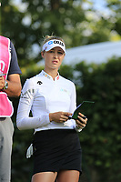 Nelly Korda (USA) on the 14th tee during Friday's Round 2 of The Evian Championship 2018, held at the Evian Resort Golf Club, Evian-les-Bains, France. 14th September 2018.<br /> Picture: Eoin Clarke | Golffile<br /> <br /> <br /> All photos usage must carry mandatory copyright credit (&copy; Golffile | Eoin Clarke)