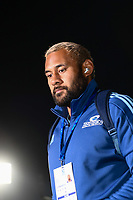 11th July 2020, Christchurch, New Zealand;  Patrick Tuipulotu of the Blues arrives for the Super Rugby Aotearoa, Crusaders versus Blues at Orangetheory Stadium, Christchurch