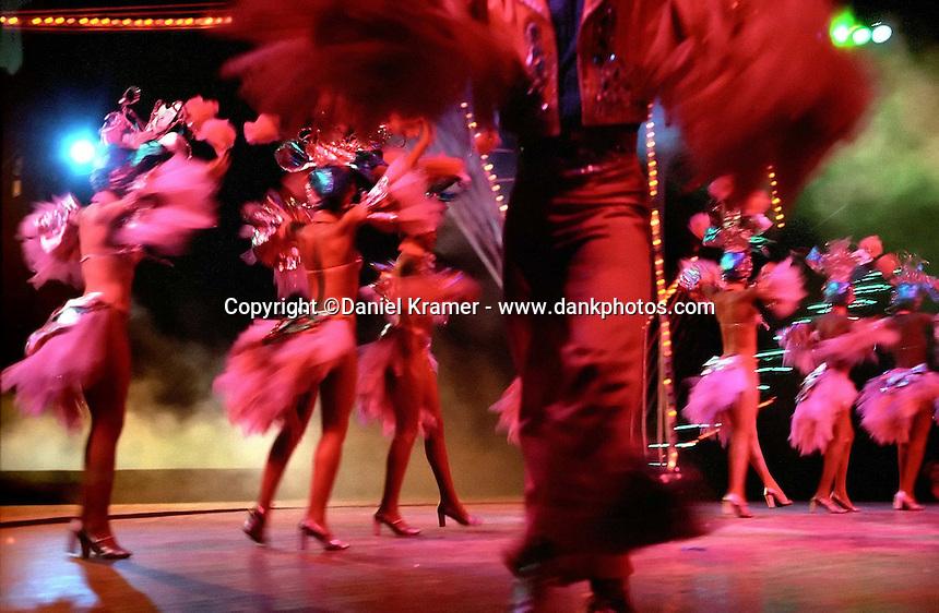 Performers onstage at the Tropicana Nightclub in Havana. (2000)