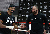 11th September 2017, London, England; Joseph Parker Training Session; Joseph Parker and David Haye during a training session in London ahead of his WBO heavyweight boxing title defence