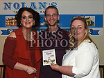 Anita Cunningham and her husband Bruno Lanvin with Anne Reilly a  Jack and Jill Foundation nurse at the fundraiser held in Nolans. Photo:Colin Bell/pressphotos.ie