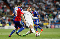 Cristiano Ronaldo of Real Madrid and Schar of FC Basel 1893 during the Champions League group B soccer match between Real Madrid and FC Basel 1893 at Santiago Bernabeu Stadium in Madrid, Spain. September 16, 2014. (ALTERPHOTOS/Caro Marin) /NortePhoto.com