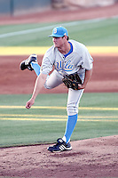 Gerrit Cole #12 of the UCLA Bruins pitches against the Arizona State University Sun Devils at Packard Stadium on May 27, 2011 in Tempe, Arizona. .Photo by:  Bill Mitchell/Four Seam Images.