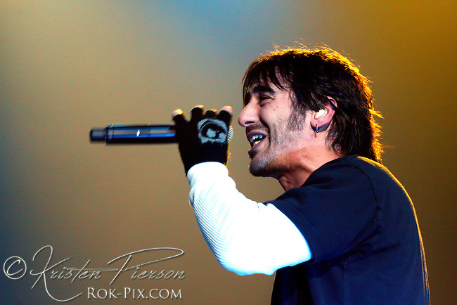 Godsmack performing at the Verizon Center in Manchester, NH on December 7, 2006