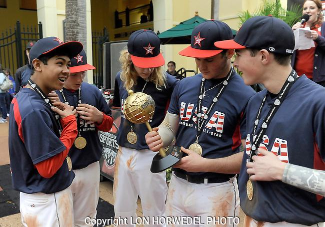 Game Day USA U-14 All Stars vs. Miami Baseball Academy Stars, Disney New Year's Baseball Classic Championship, Kissimmee, Florida, 1-1-14.
