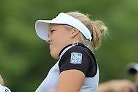 Brooke Henderson (CAN) tees off the par3 5th tee during Wednesday's Pro-Am Day of The Evian Championship 2017, the final Major of the ladies season, held at Evian Resort Golf Club, Evian-les-Bains, France. 13th September 2017.<br /> Picture: Eoin Clarke | Golffile<br /> <br /> <br /> All photos usage must carry mandatory copyright credit (&copy; Golffile | Eoin Clarke)