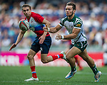 Russia vs Zimbabwe during the HSBC Sevens Wold Series Qualifier Final match as part of the Cathay Pacific / HSBC Hong Kong Sevens at the Hong Kong Stadium on 29 March 2015 in Hong Kong, China. Photo by Juan Manuel Serrano / Power Sport Images