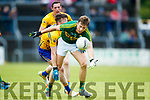 Donnchadh Walsh Kerry in action against Keelan Sexton  Clare in the Munster Senior Football Championship Semi Final in Ennis on Sunday.