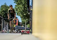 Jack Bauer (NZL/Mitchelton Scott) on the pre race sign on podium<br /> <br /> Stage 5: Lorient > Quimper (203km)<br /> <br /> 105th Tour de France 2018<br /> ©kramon