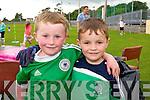 Fionn O'Dailaigh and Ryan Sheehy  enjoying the Na Gaeil family fun Day on Sunday