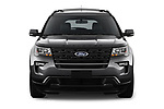 Car photography straight front view of a 2019 Ford Explorer XLT 5 Door SUV