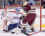 Peter Vetri, Benn Ferreiro - The Boston College Eagles defeated the University of Massachusetts-Lowell River Hawks 4-3 in overtime on Saturday, January 28, 2006, at the Paul E. Tsongas Arena in Lowell, Massachusetts.