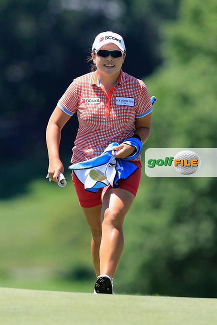 Ha Na Jang (KOR) on the 9th green during Saturday's Round 3 of the 2015 KPMG Women's PGA Championship held at Westchester Country Club, Harrison, New York, USA. 6/13/2015.<br /> Picture &copy; Golffile/Eoin Clarke