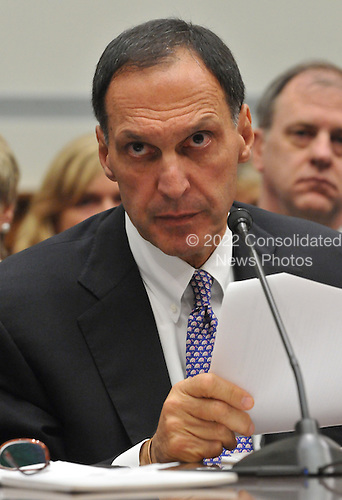 """Washington, D.C. - October 6, 2008 -- Richard S. Fuld, Jr., Chairman and Chief Executive Officer, Lehman Brothers Holdings, testifies before the United States House Committee on Oversight and Government Reform hearing on """"The Causes and Effects of the Lehman Brothers Bankruptcy"""" in the Rayburn House Office Building on Monday, October 6, 2008..Credit: Ron Sachs / CNP.(RESTRICTION: NO New York or New Jersey Newspapers or newspapers within a 75 mile radius of New York City)"""