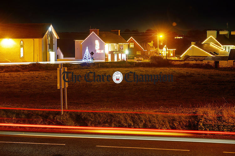 A view of the Christmas lights which were organised by the local Tidy Towns group in Cree, West Clare. Photograph by John Kelly.